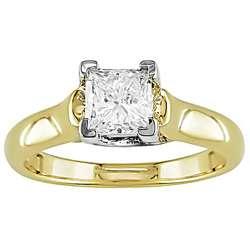 14k Yellow Gold 1ct TDW Princess cut Diamond Ring