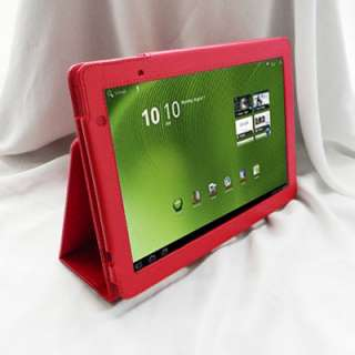 Acer Iconia Tab A500 A501 Folio Leather Case Cover with Stand Black