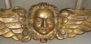 Unusual Antique French Gilt Wood Angel or Cherub