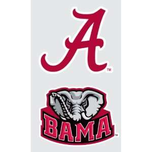 ALABAMA Crimson Tide 2 PACK Logo vinyl decal car truck