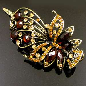 ADDL Item , 1 pc antiqued rhinestone flower hair clamp
