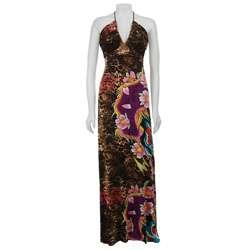 Ed Hardy Womens Animal Print Maxi Dress