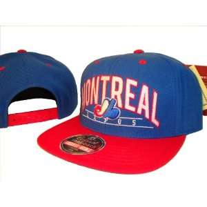 Montreal Expos Blue & Red Adjustable Snap Back Baseball Cap Hat