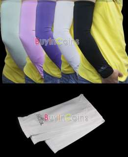 Pair Arm Sleeve Cover UV Bike Bicycle Golf Basketball