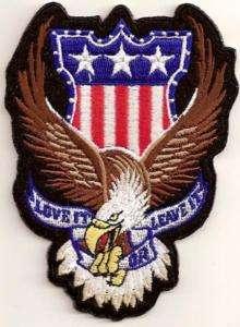 LOVE IT OR LEAVE EAGLE USA PATRIOTIC Biker Vest Patch!!
