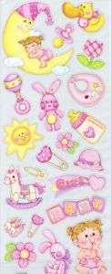 Special Moments Baby Girls Bedtime Toys Things Stickers