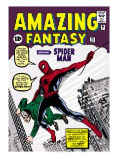 Marvel Comics Retro Amazing Fantasy Comic Book Cover #15, Introducing