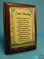 Irish Blessing on Wall/Desk Wood Plaque   Sku# 627