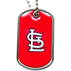 Metal MLB St. Louis Cardinals Baseball Team Dog Tag Necklace