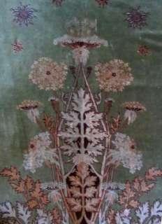 Nouveau RUG Important Mohair Textile Panel Birds Passion Flower 1900