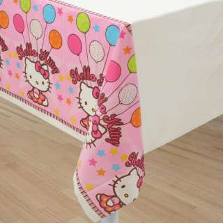 Hello Kitty Table cover party decorations plastic