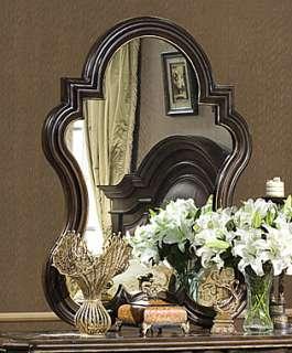 Antiqued Chestnut Vanity Chest Dresser Hanging Mirror
