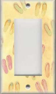 Light Switch Plate Cover   Beach Decor   Sunshine Flip Flops
