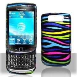 Premium BlackBerry Torch 9800 Rainbow Zebra Case