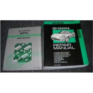 2002 Toyota MR2 MR 2 Service Shop Repair Manual Set OEM toyota