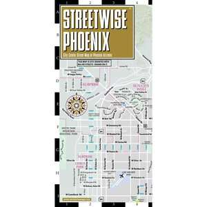 Streetwise Phoenix Map   Laminated City Center Street Map