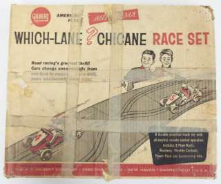 American Flyer 19075 Gilbert Which Lane? Chicane Race Set/Box