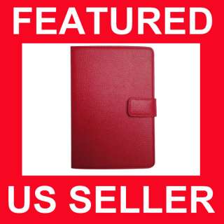 Kindle 3 Leather Case Cover Jacket Accessories Red