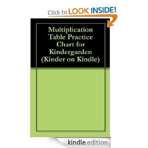 Multiplication Table Practice Chart for Kindergarden (Kinder on Kindle
