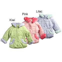Zero Xposur Toddler Girls Faux Fur Trim Coat