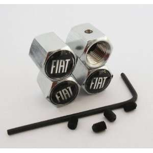 Fiat Anti theft Car Wheel Tire Valve Stem Caps Automotive