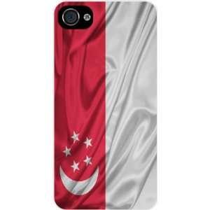KnightTM Singapore Flag White Hard Case Cover for Apple iPhone® 4