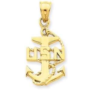 14k United States Navy Anchor Pendant Jewelry