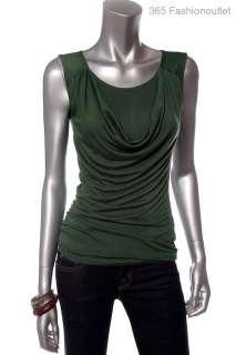 NW/O Tag BANANA REPUBLIC Womens Ladies Sleeveless Draped Front Tank