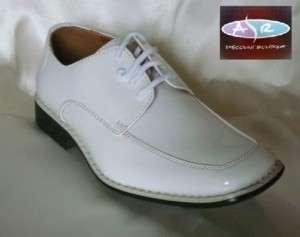 Baby Toddler Boys White Tuxedo Shoes Sizes 3 4 5 6 7 8