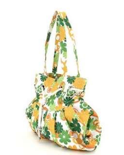 Retro 70s look Floral print large market hobo bag