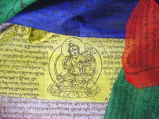Tibetan Prayer Flags ~ GODDESS TARA ~ Large Cotton Roll