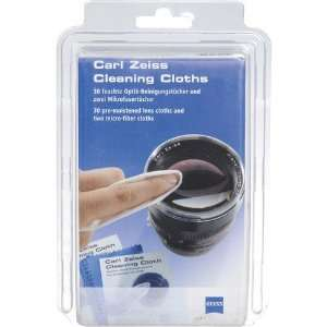 com Zeiss Lens Cleaning Cloths / 2 Microfiber Cloths and 30 Moistened