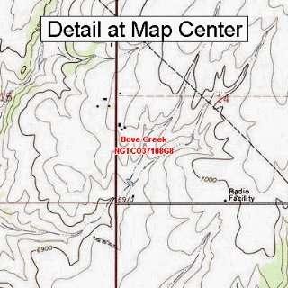 USGS Topographic Quadrangle Map   Dove Creek, Colorado (Folded