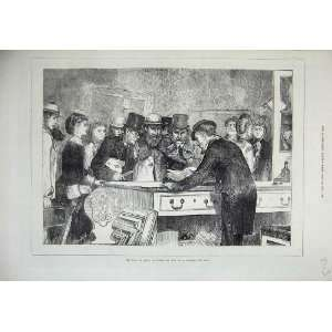 Royal Academy Arts 1871 Men Women Looking Books Print