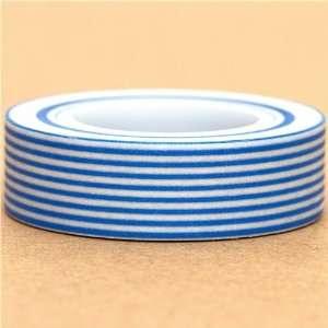 white Washi Masking Tape deco tape blue stripes Toys