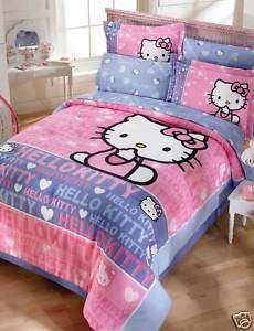 Sanrio Hello Kitty Smile Comforter Sheets Bedding Set Twin 6pcs