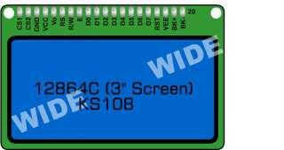 KS0108 128x64 Graphic LCD Blue Backlight for EasyPIC5