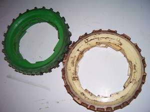 JOHN DEERE PLASTIC CORN PLANTER PLATES x 8 VINTAGE