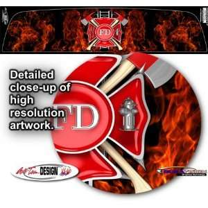 Firefighter Rear Window Graphic 1 for Chevrolet Avalanche