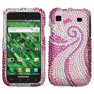 Pink Tail Crystal Bling Case Cover for Samsung Galaxy S 4G T959V