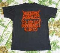 NUCLEAR ASSAULT Vintage Concert SHIRT 80s Tour T RARE ORIGINAL 1987
