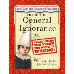 The Box of General Ignorance 100 Flash Cards to Entertain Your Brain