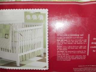 Amy Coe Mod Peanuts Green Elephants Baby Crib Bedding