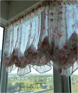 Romantic roses Ruffle Adjustable Balloon Shade Curtain