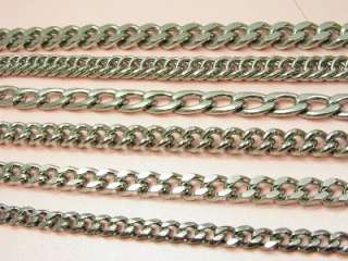 MEN High Quality STAINLESS STEEL Various Style CURB Chain NECKLACE