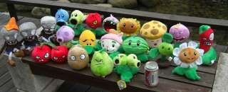 16PCS Plants Vs Zombies Stuffed Soft Plush Toy Doll set