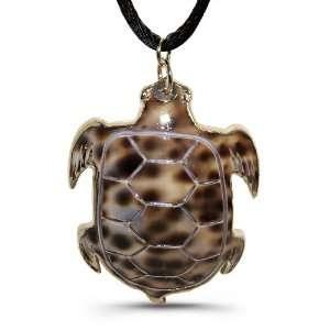 Pearl Shell Pendant   Sea Turtle Inspired Design Jewelry