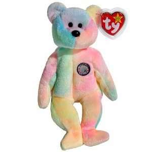 Ty Beanie Babies   B.B. the Ty Dyed Birthday Teddy Bear