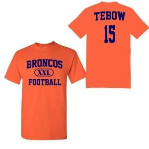 Tebow Name and Number Orange Adult and Youth T Shirt by BBG: Sports
