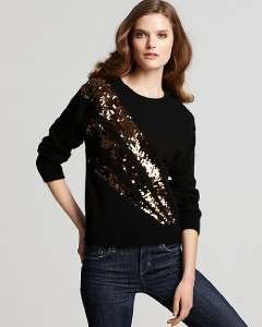 Marc Jacobs Black Angora Wool Sequin Quad Sweater NWT L